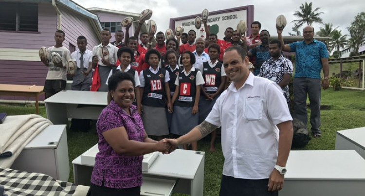 More Schools In Naitasiri get Furnished Thanks To Swire Shipping's Donations