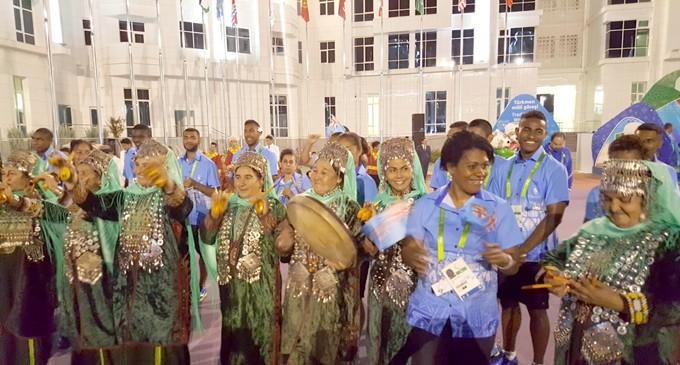 Big Welcome For Team Fiji
