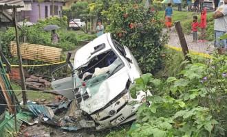Lucky Escape For Teenager, Car Crashes Into Nabua Home