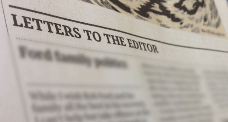 Letters To The Editor, September 25, 2017