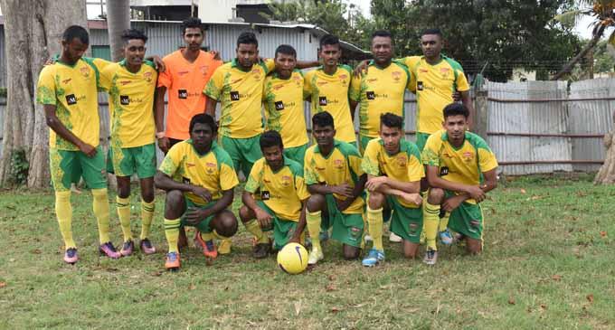 The Namaka FC at the KK's Hardware Limited Nadi Football local league competition at Prince Charles Park, Nadi on September 3, 2017. Photo: Arieta Vakasukawaqa