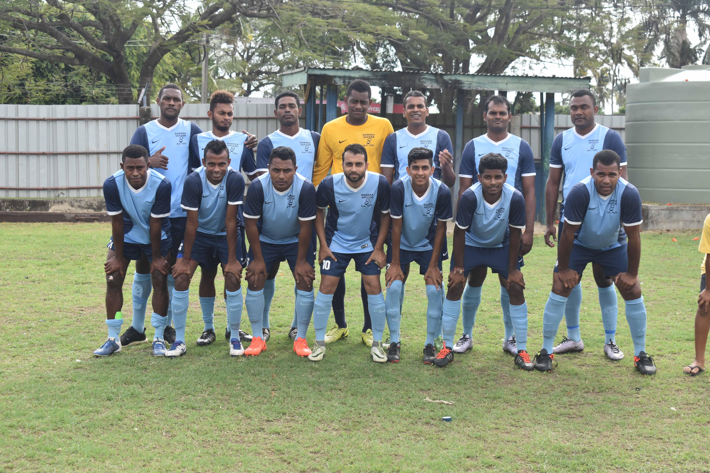 The Navakai FC team at the KK's Hardware Limited Nadi Football local league competition at Prince Charles Park, Nadi on September 3, 2017. Photo: Arieta Vakasukawaqa