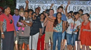 Team Fiji during the opening of the 2016 Musket Cove Fiji Regatta. Photo: Waisea Nasokia