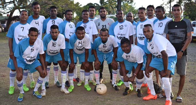 Qawa Sanatan team at Subrail Park, Labasa on September 8, 2017. Photo: Shratika Singh