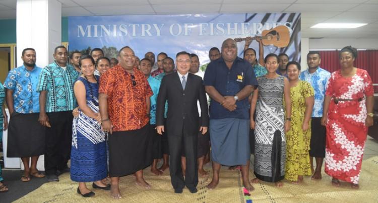 Fisheries ministry farewell Chinese ambassador