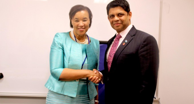 A-G Meets  Commonwealth  Secretary-General