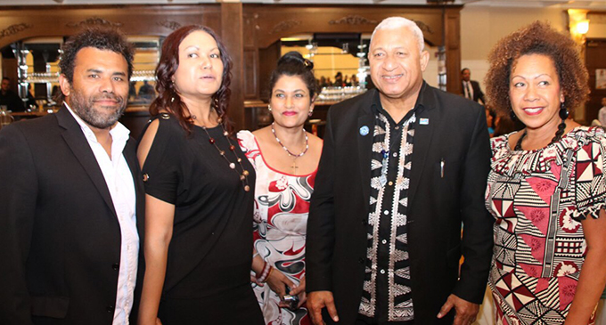 Prime Minister Voreqe Bainimarama with Fijians in Vancouver, Canada during the Fiji Day reception. Photos: DEPTFO News
