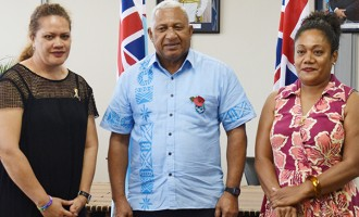 WOWS Kids Fiji Thanks  PM for $22,000 Donation