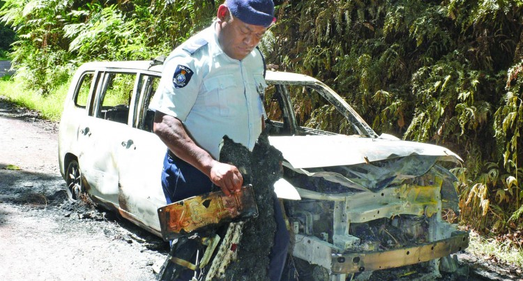 Taxi Burnt, Driver Robbed