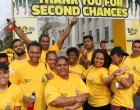 Yellow Ribbon:Hundreds In Yellow Walk (And  Run) To Support Second Chance