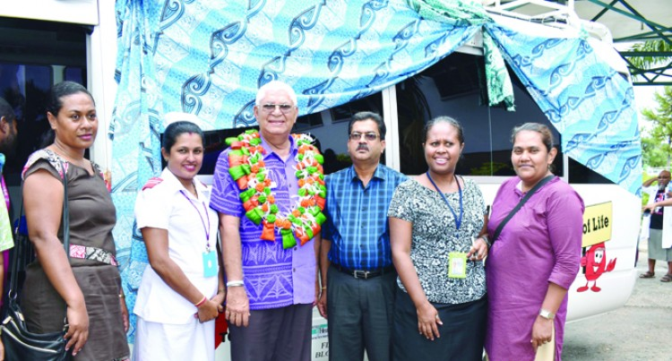 Labasa Hospital Receives $200,000 Blood Bank Bus