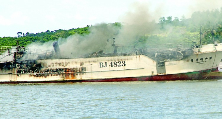 Fishing Vessel Catches Fire