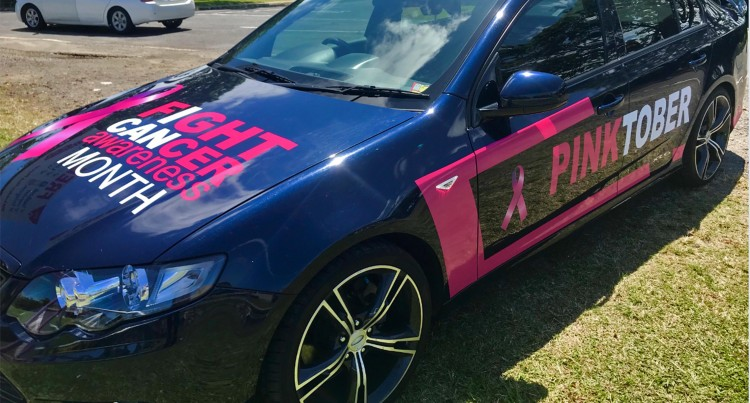 PINKTOBER: Singh Paints Ford XR6  Turbo To Raise Awareness