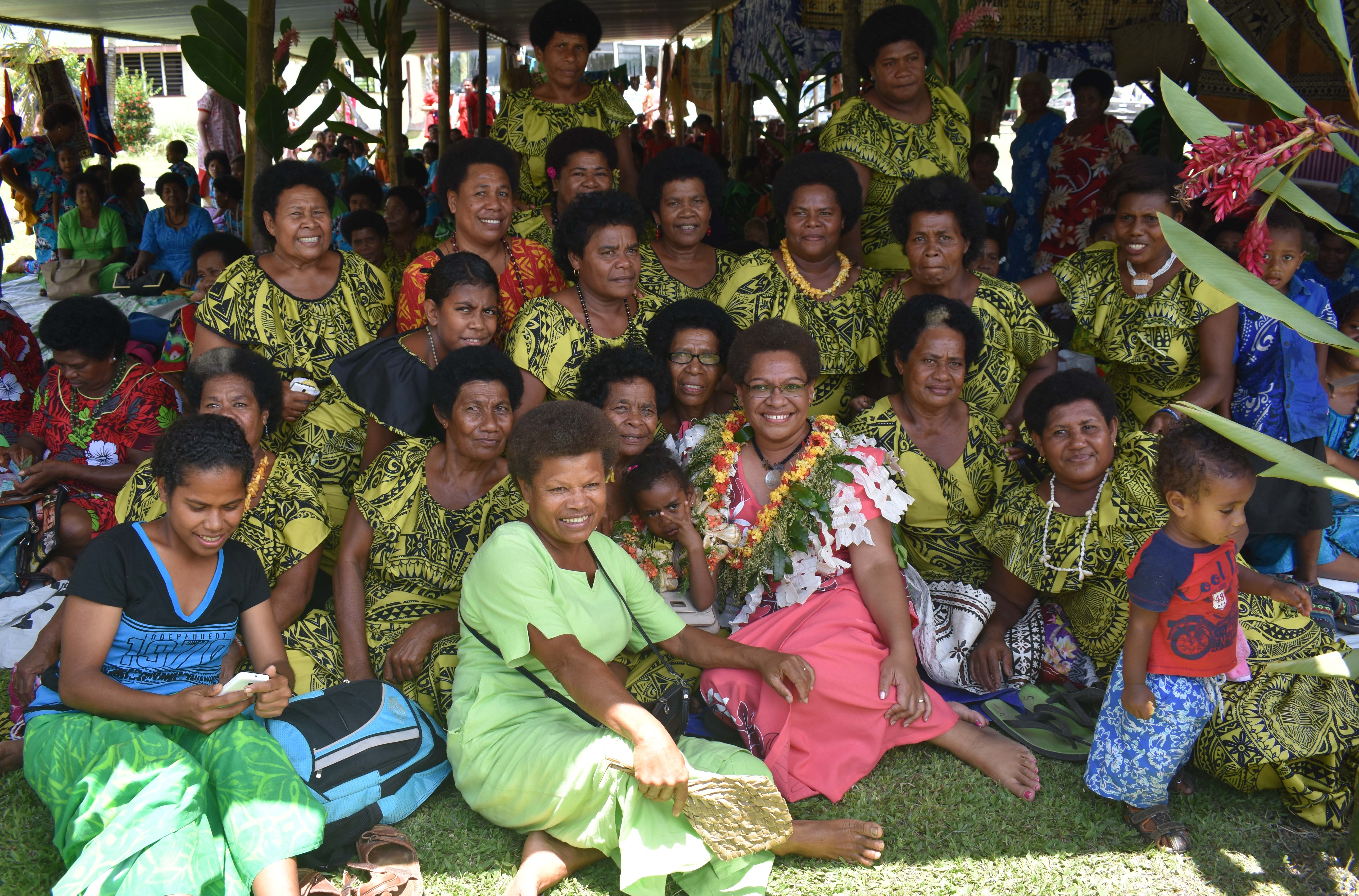 Minister for Women, Children and Poverty Alleviation Mereseini Vuniwaqa with women during Natewa Day at Tukavesi Village in Cakaudrove Province on October 19.2017 Photo: AFA KAUMAITOTOYA