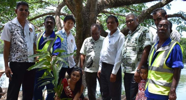 Chand Plants Trees in Labasa Then Goes to Suva for Pageant Launch