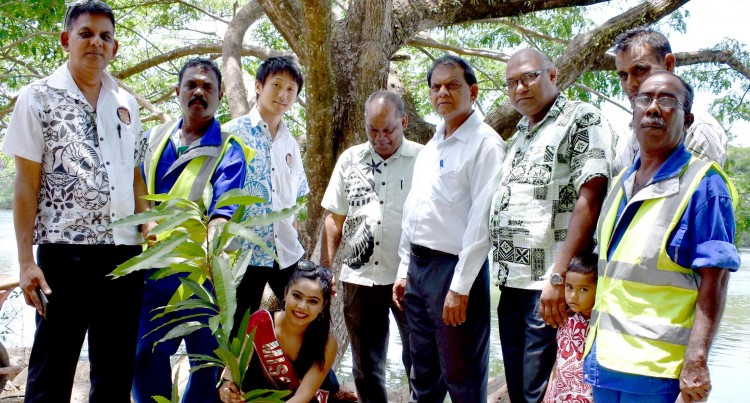 COMMITMENT: Chand Plants Trees In Labasa Then Goes To Suva For Pageant Launch