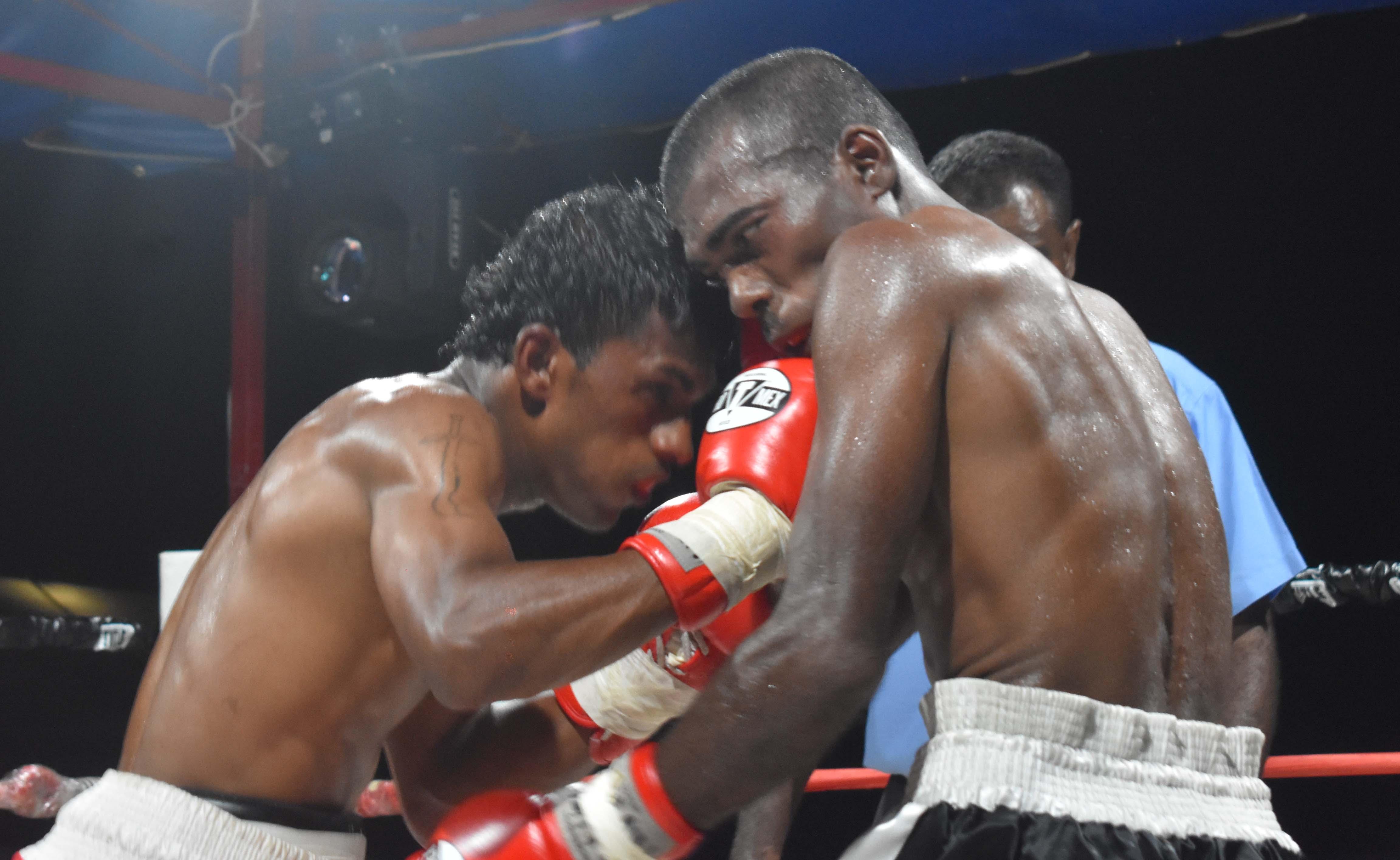 Shamal Ramanuj beats Ritesh Gounder at the Prince Charles Park in Nadi last night. Photo: WAISEA NASOKIA