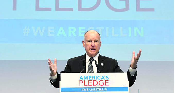California Governor Jerry Brown in Bonn, Germany. Photo: DEPTFO News