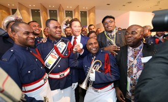 'Terminator' Stirs Excitement Among our  Police Band