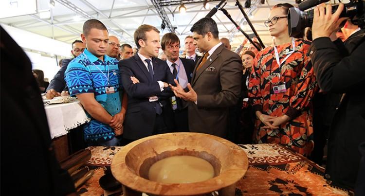 Macron Drinks First Bowl of Kava in Bonn