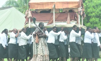 A-G leads Govt Delegation At Tui Lawa's Funeral