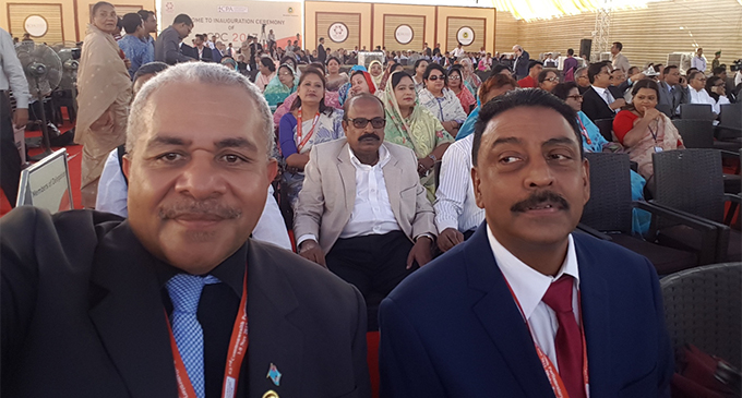 From left; FijiFirst Member of Parliament Matai  Akauola and Opposition representative Prem Singh.
