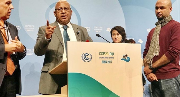 People First In Climate Action: Bainimarama