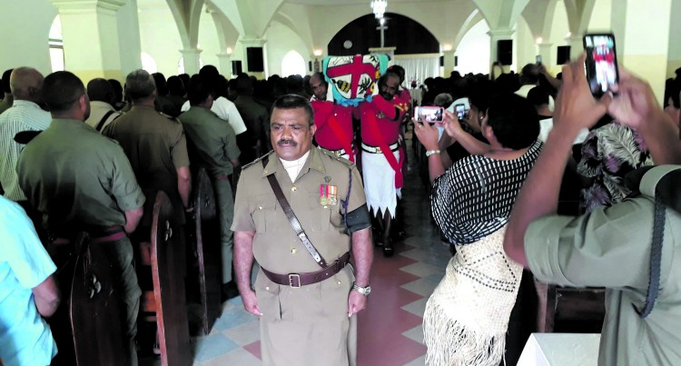 Colonel Kalouniwai Pays Tribute to Fallen Officer
