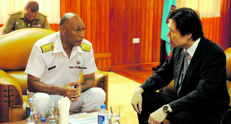 Commander Talks Of Plans With Japanese Envoy
