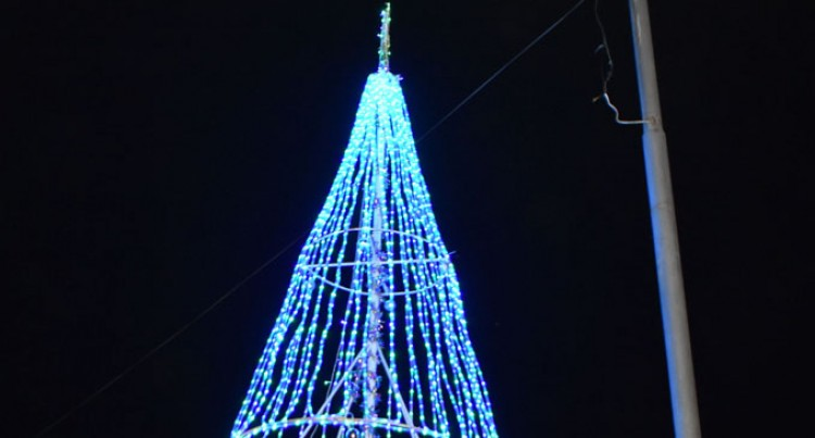 Christmas Tree Lights Up Labasa Town