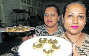 Kana Vinaka cooking course certificate recipients Sandhya Chand (left) and Rozita Singh at Technical College Suva on December 14, 2017. Photo: Ronald Kumar.