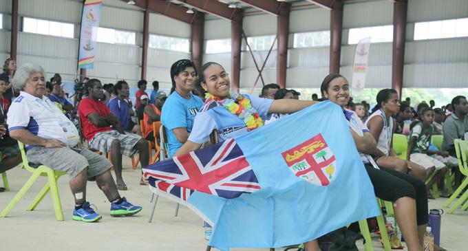Fans at the Epauto Hall, Port Vila, Vanuatu on December 5,2017.  Photo : Peni Komaisavai