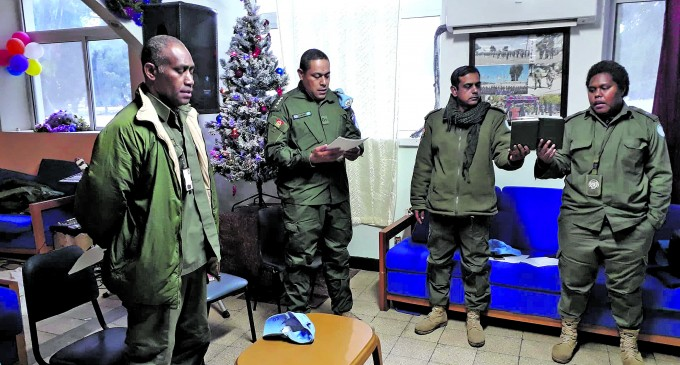 Visitors Bring Blessings To Peacekeepers