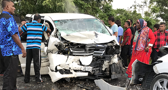 An accident along the Queens Highway at Bavu, between Sigatoka and Nadi has resulted in the death of one man on December 10, 2017. Photo: Ashna Kumar