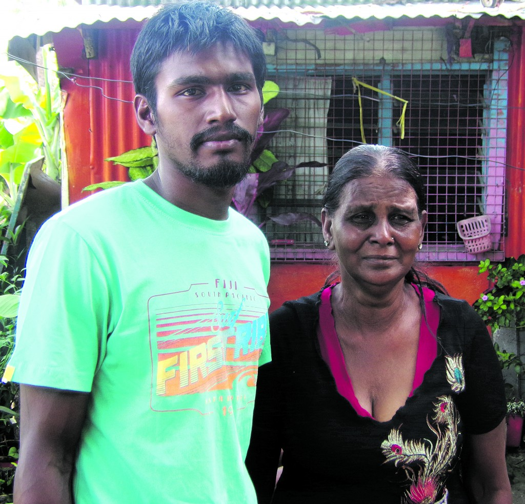 67-year-old Khatun Sami was deeply saddened after her grandson, Kunal Kamlesh Sami, 25, died on Christmas Day. Kunal was the victim of an alleged killing that took place at his de facto partner's home at Koroipita Settlement in Naikabula, Lautoka. Pictured: The victim's twin brother Karun Sami and his grandmother Khatun Sami at their home at Delaitomuka in Lautoka.  Words and Photo: Charles Chambers