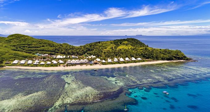 An aerial view of Sheraton Resort & Spa, Tokoriki Island.