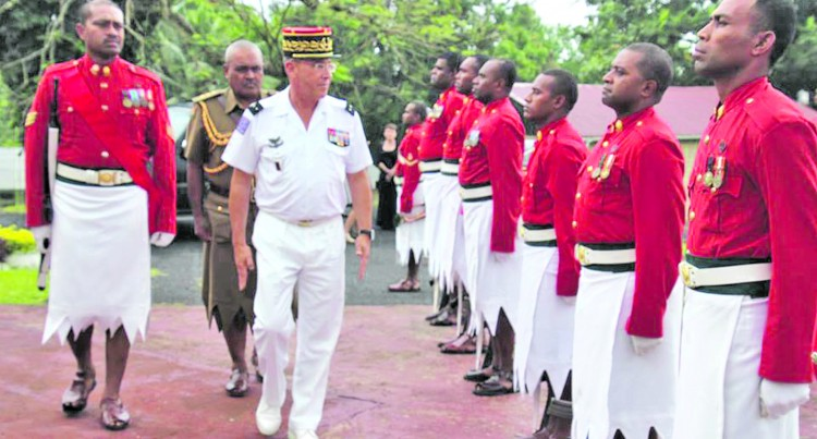 Brigadier-General Marchand Takes Tour of Suva-Nasinu Military Installations