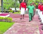 Brig-Gen Toropo  Accorded Quarter Guard On Visit