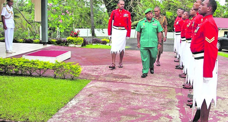 Brig-Gen Toropo  Accorded Quarter Guard On Visit