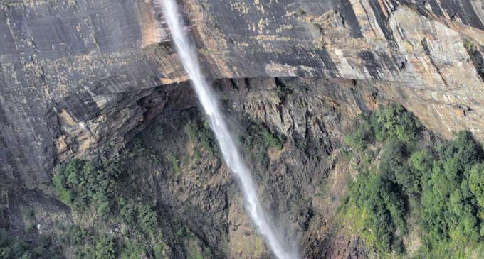 The Nohkalikai Falls in Sorha, Meghalaya. Photo: Waisea Nasokia