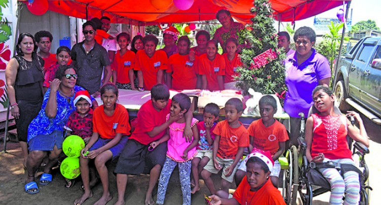 Director's Family Shower Children with Gifts