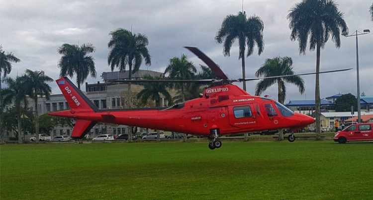 Helipro transfers patients from North to Suva in bad weather
