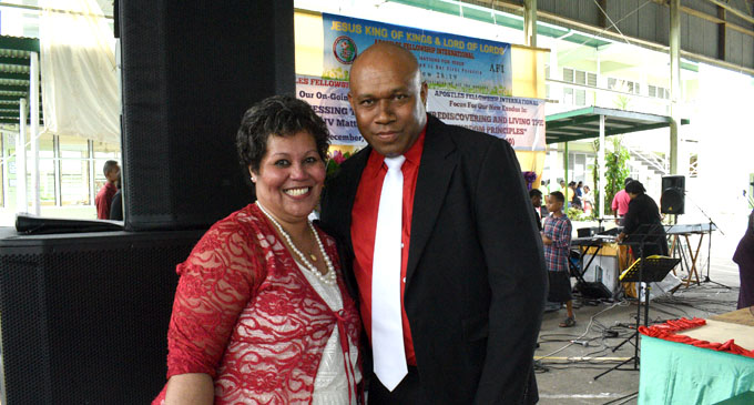 Pastor Sefanaia Bulabalavu with wife Amelia. Photo: Lusiana Tuimaisala