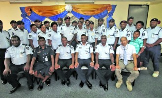 Divisional Commander Commends Family Support For Newly Promoted Officers