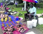 Tuilau Spends Christmas Eve Selling Produce