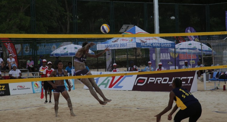 Beach V/ball Reps On Track