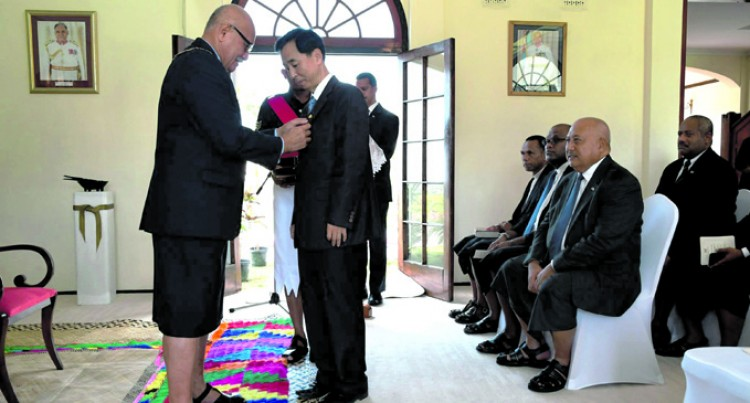 Outgoing Korean envoy receives Order of Fiji Award