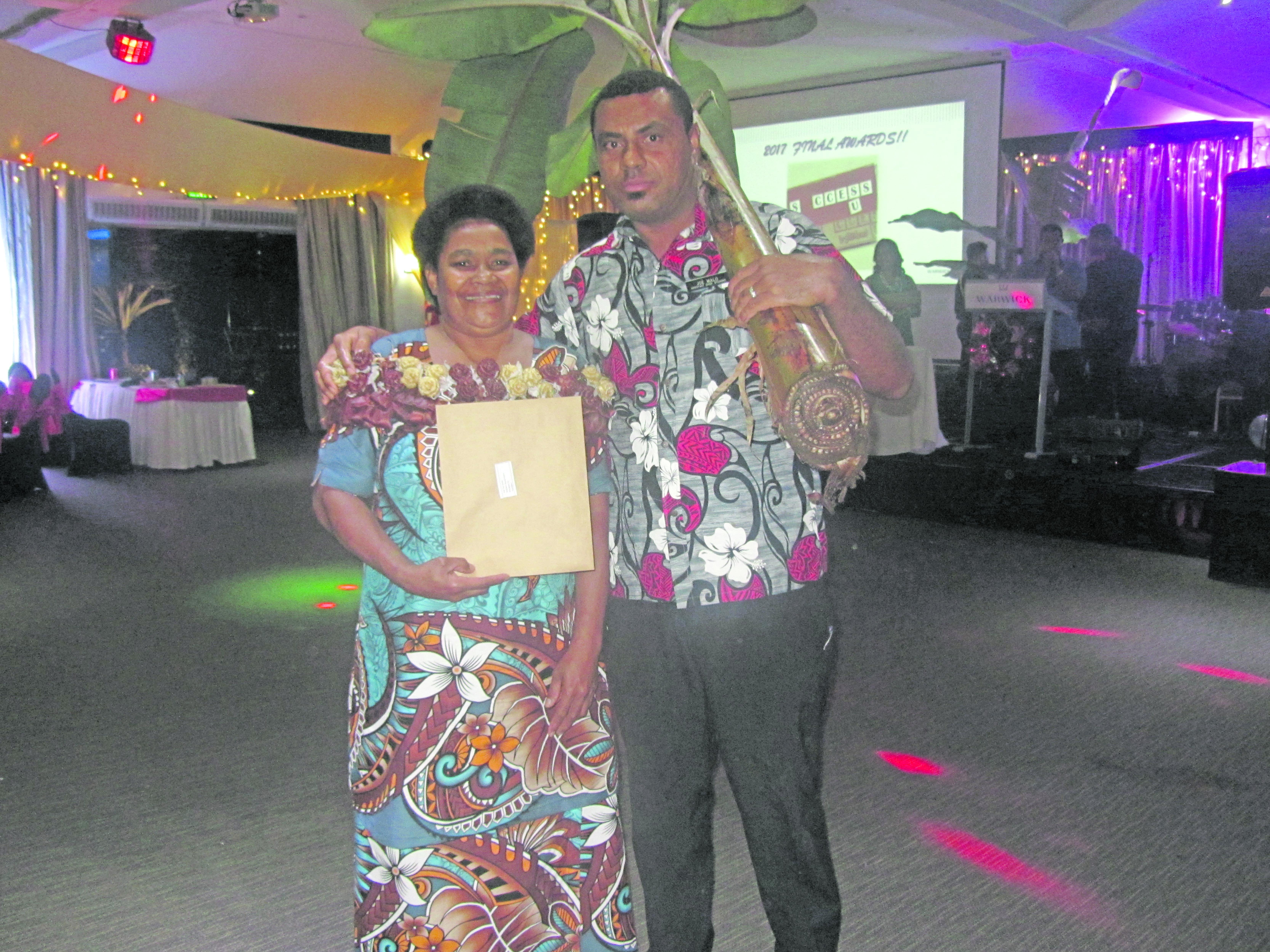 Warwick Fiji Heart of House award winner Adi Tea Simo and Josaia Malo.  Photo: Warwick Fiji