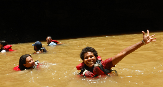 Fiji Sun journalist Lusiana Tuimaisala was also part of the trip. Photo: Rivers Fiji.