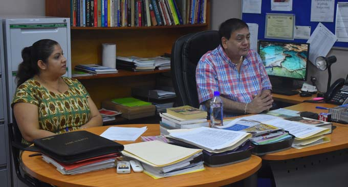 Professor Prem Misir lays out plans for international accreditation this year on January 28, 2018. Photo: University of Fiji